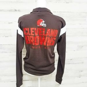 PINK Victoria's Secret Tops - PINK Victoria's Secret Cleveland Browns Sweatshirt